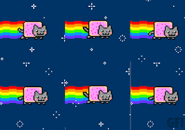 Nyan Cat Memes - nyan cat likes your desktop fills it with rainbows 皓 threattrack