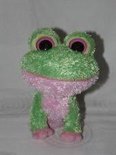 ty beanie boos ty beanie boo kiwi frog green pink 2009 tush