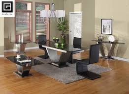 Expandable Dining Room Tables Modern Modern Design Of Expandable Dining Table Set With Glass Surface