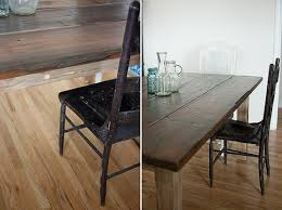 How To Build A Farmhouse Table How To Create A Rustic Farmhouse Dining Table From An Inexpensive
