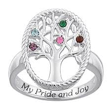 design your own mothers rings s simulated birthstone my pride and family tree ring