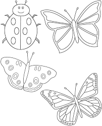 coloring pages of butterfly three butterflies and ladybug coloring page insects