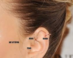 hoop cartilage piercing helix earring cartilage earring helix piercing tragus earring