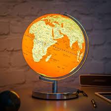 earth globes that light up illuminated led globe light in goldfish orange by thelittleboysroom