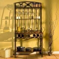Bakers Wine Racks Furniture Metal Bakers Rack With Wine Storage Foter