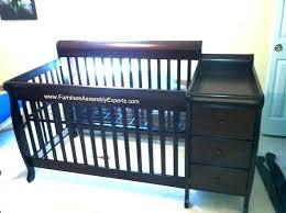 crib with changing table burlington black baby cribs full image for with changing table attached babies