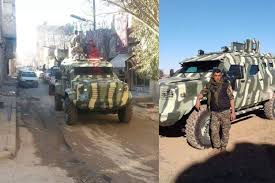 armored vehicles u s supplied armored vehicles roll into battle in syria