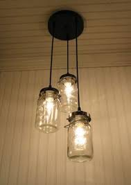 half gallon mason jar pendant lamp light urban farmhouse