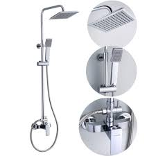 bathroom square rain shower set mixer taps in chrome jd 1182