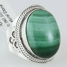 silver hand rings images Size 7 5 malachite ring sterling silver oval rings hand carved jpg