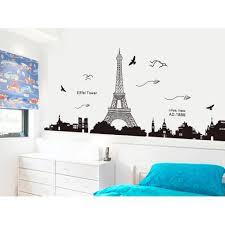 Cheap Eiffel Tower Decorations Diy Wall Stickers Wallpaper Art Decor Mur Paris Eiffel Tower Night