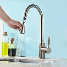 brass kitchen faucet brass kitchen faucet silver pull out spray rotatable centerset