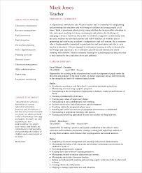 Teacher Job Resume by Sample Job Resume 8 Examples In Word Pdf