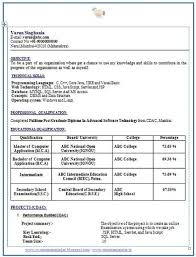 resume format for mca freshers pdf of resume format for freshers