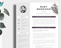 Two Page Resume Sample by Cv Template Creative Resume Template Two Page Professional