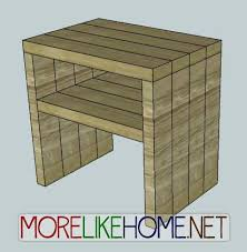 Plans For A Simple End Table by 2x4 Modern Nightstand Diy Pinterest Nightstands Modern And