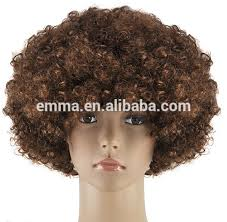 cheap make fashion red color afro funky disco clown style wig