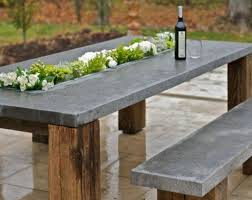 outdoor table ideas concrete table an original establishment idea concrete table