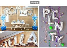 New Year Wedding Decorations by 1pc 16 U201d Sliver Alphabet Letters Number Helium Balloons Birthday
