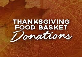thanksgiving food basket donations