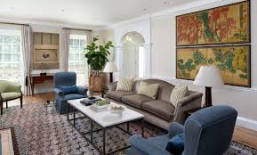 Federal Style Interior Decorating Crown Moulding Dominates This Updated Neoclassical American