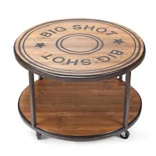 Big Coffee Tables by Dm3005030125 Big Shot Round Coffee Table With Wheels U2013 Wild West