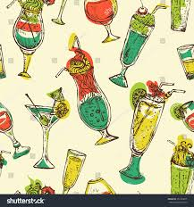 retro cocktail party seamless pattern vintage cocktails cocktail party stock vector