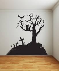 vinyl wall decal sticker halloween tree 1014