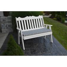 a u0026l furniture co poly 5 u0027 royal english garden bench rocking