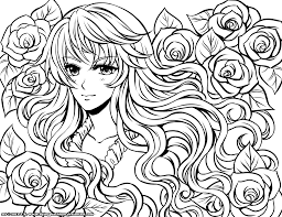 lovely anime coloring pages printable 97 for free coloring kids