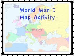 world war 1 map activity color and label map for future ww1