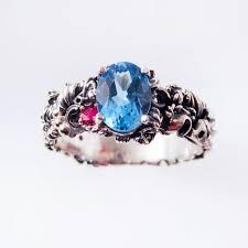 steunk engagement ring blue topaz steunk engagement ring