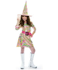 Girls Witch Halloween Costumes Groovy Witch Costume Kids Costume Witch Halloween Costume