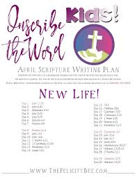 inscribe the word kids april scripture writing plan u2014 the