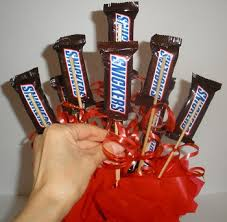 Candy Bouquet Delivery Homemade Birthday Gifts U2013 Diy Snickers Candy Bouquet