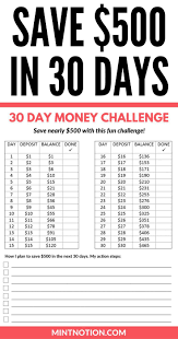 Challenge Tips Money Challenge How To Save 500 In 30 Days 30th Money Fast