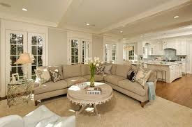tufted sectional sofa living room traditional with neutral colors