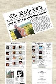 newspaper wedding programs the 25 best wedding newspaper ideas on day news