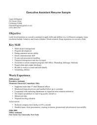 Resume Example For Medical Assistant by Executive Assistant Skills Resume Resume For Your Job Application