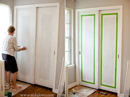 How To Build A Sliding Closet Door Painted Sliding Closet Doors Faux Trim Effect Closet Doors
