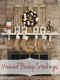 burlap christmas weaved burlap christmas tutorial cherished bliss