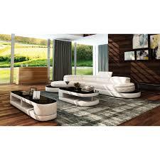Modern Bonded Leather Sectional Sofa Divani Casa 5125 Modern White U0026 Black Bonded Leather Sectional