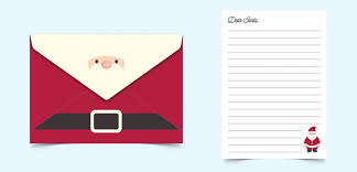 dear santa letter and envelope template