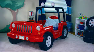 light gray jeep modern kids bedroom decor with jeep wrangler toddler bed high