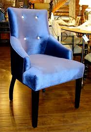 Upholstered Chairs For Dining Room by Blue Upholstered Dining Chairs Homesfeed