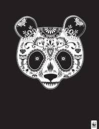 depicts endangered animals as beautiful sugar skulls