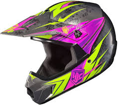 hjc motocross helmet hjc cl xy pop n lock girls youth kids pink mx atv motocross