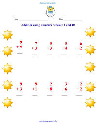 addition up to 10 worksheets 2nd grade kids activities