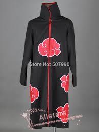 Naruto Costumes Halloween Anime Naruto Cosplay Costume Akatsuki Ninja Wind Coat Uniform