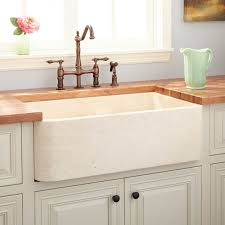 Polished Marble Farmhouse Sink Cream Egyptian Kitchen - Marble kitchen sinks